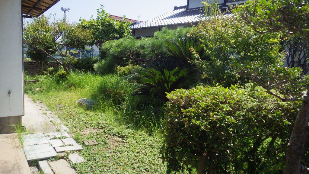 草取りが大変な庭園