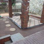 若松区 W邸 家の庭を2色で施工しました。