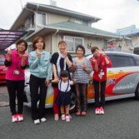 KBCラジオカーひまわり号の中継に出演