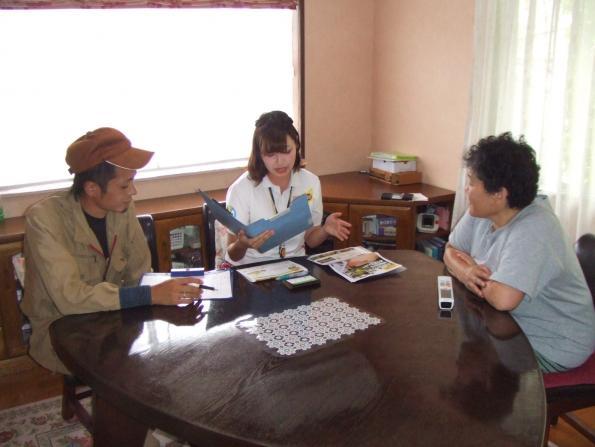 KBCラジオ放送ひまわり号の中継に出演しました