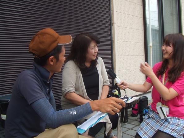 ひまわり号中継に出演しました!
