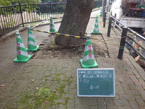 2016/11/29 中央公園 緊急工事