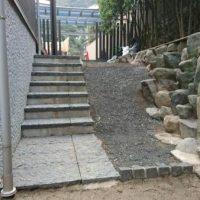 2017/1/18 門司区 F邸 ガチン固 防草施工