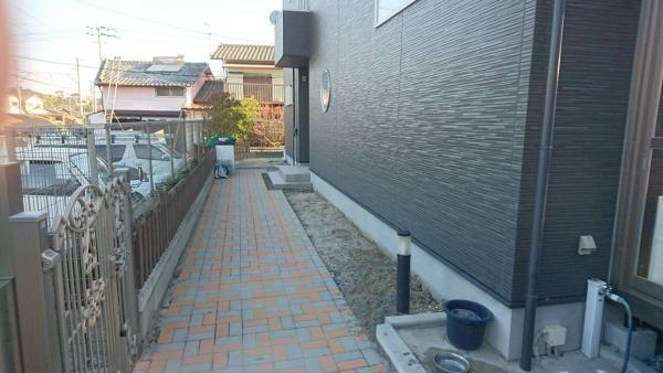 2017/1/28 中間市 T邸(2) ガチン固 防草施工