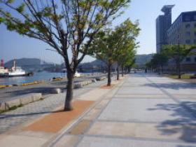 H25年度公共工事実績 北九州市 改修(総合)門司港レトロ親水遊歩道工事 植樹桝