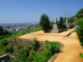 H26年度公共工事実績 北九州市 藤ノ木霊園園路舗装工事 霊園園路