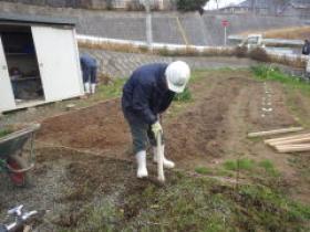 H25年民間工事実績 畑の通路ガチン固を施工しました