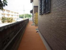 H26年民間工事実績 家の裏の通路