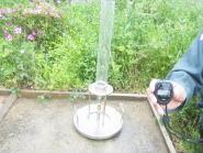 水を上からかけて固めるタイプ